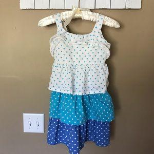 Crazy 8 Girls White & Blue Ruffle Tier Dress